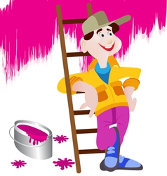 handyman cartoon vector image vector image