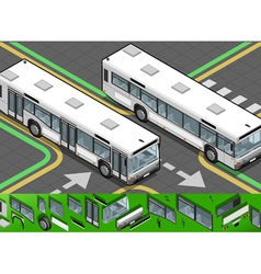 Isometric Bus in Front View vector image