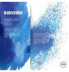 layout for text with an abstract blue watercolor vector image