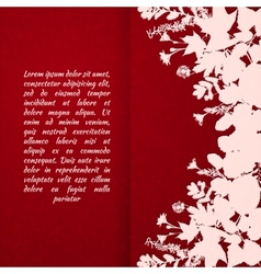 painted leaves vector image vector image
