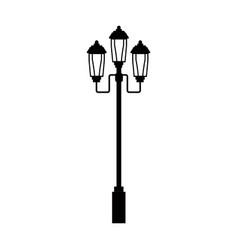 Pictogram lamp post light street vector
