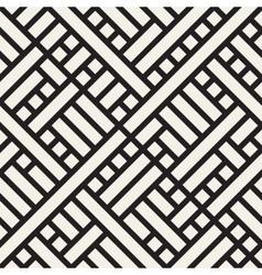 Seamless Black and White Rectangular vector image