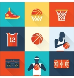 basketball icons vector image vector image