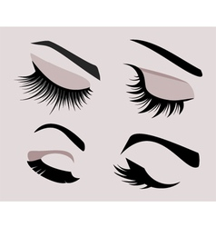 Beautiful girls eyes set vector image vector image