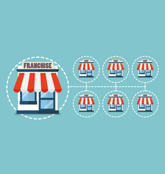 franchise business in flat style vector image vector image