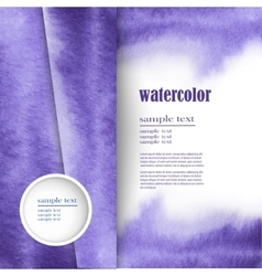 layout for text with an abstract watercolor design vector image vector image