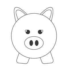 piggy bank pig money save vector image