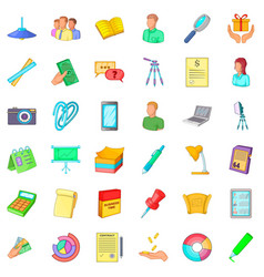 business team icons set cartoon style vector image vector image