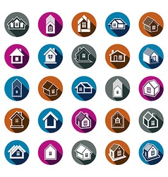 Houses abstract icons can be used in advertising vector image vector image
