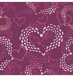 Seamless pink Valentines day background vector image vector image