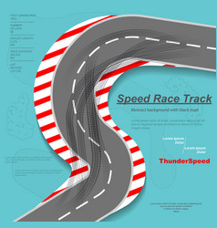 Speed road with tire track silhouettes vector