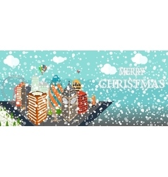 UK Silhouette Christmas and New Year London city vector image vector image