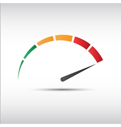 Color tachometer speedometer icon performance vector image vector image
