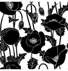 Seamless from poppies vector image
