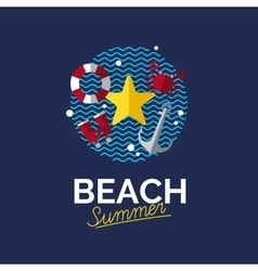 Summer vacation symbol vector image