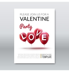 Template invitation valentine holiday Holiday vector image vector image