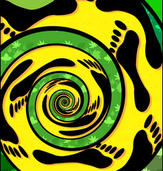 Abstract colored background image of spiral foot vector