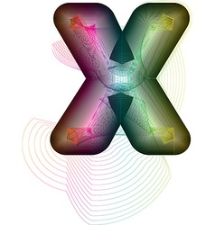 Abstract colorful Letter X vector image
