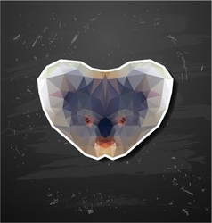 abstract triangle polygonal koala abstract vector image