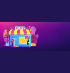 animals shop concept banner header vector image