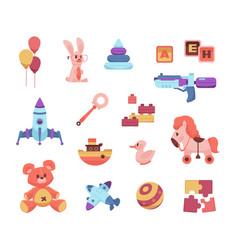 baby toys cartoon playthings for preschoolers vector image