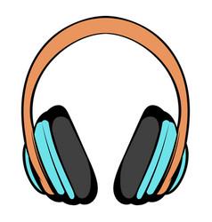 Big headphones icon cartoon vector