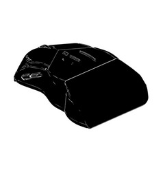 black mouse on a white vector image
