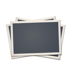 Blank retro photo frame vector image