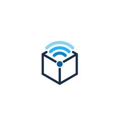 Box wifi logo icon design vector
