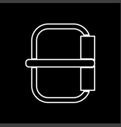 Buckle white color icon vector