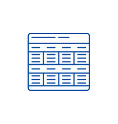 business model line icon concept business model vector image