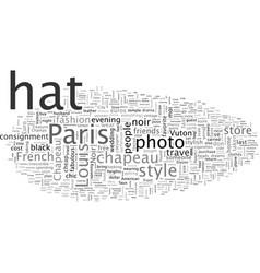 Chapeau noircheap chic travels vector