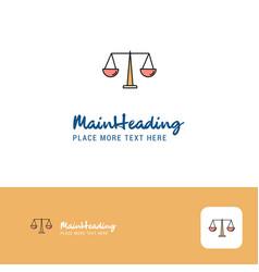 Creative justice logo design flat color logo vector