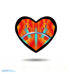 design elements for valentines day heart vector image