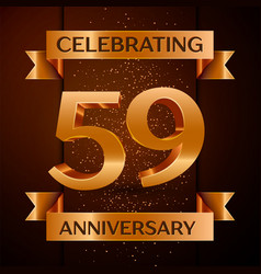 fifty nine years anniversary celebration design vector image