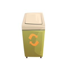 garbage wheelie bin with lid waste processing and vector image