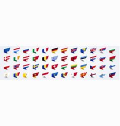 giant europe flag set vector image