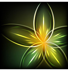 Green light flower background vector image