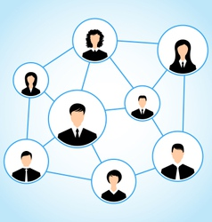 Group business people social relationship vector