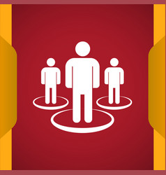 Group meet people icon vector