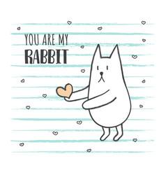 grunge rabbit2 vector image