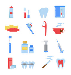 Healthcare in flat style dental vector