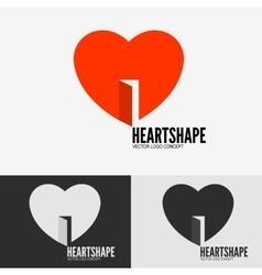 Heart with door vector image