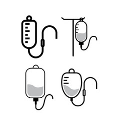 Infusion icon design template isolated vector