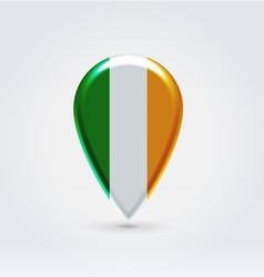 Irish icon point for map vector image vector image