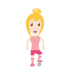 Isolated women playing soccer vector