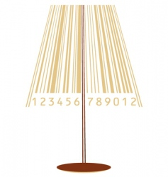 Lamp and barcode vector