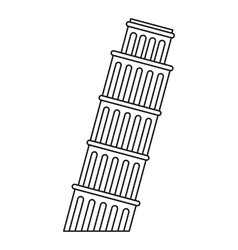 Leaning tower pisa icon outline style vector