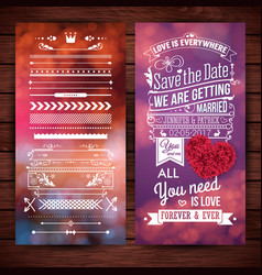 love is everywhere getting married stationery vector image