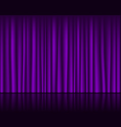Magic stage with purple curtain seamless template vector